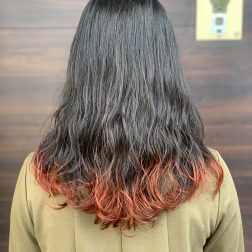 毛先カラー